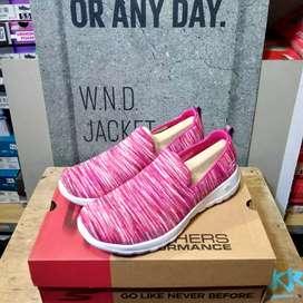 Sepatu Sneakers Skechers Go Walk Joy Terrific Pink Original