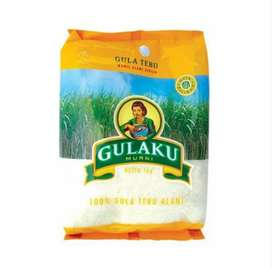 Gulaku Gula Tebu (Gula Pasir) Premium 1 Kg Hijau & Kuning