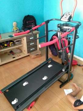 treadmill manual 6 fungsi merah hitam