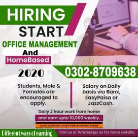 Part time,full time,home base(students/teachers)Online/office working