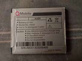 Genuine battery 2000 mah for sale usable for all kind of qmobiles .