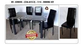 Design Wooden / Glass Dining Table set 4 / 6 Chairs Seater