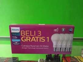 Lampu Led Philips 10W Paket Beli 3 Gratis 1