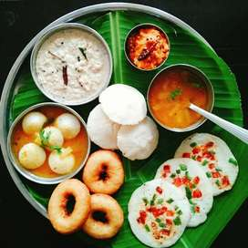 Need cook for South Indian breakfast and briyani lunch,dinner