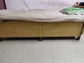Single bed size 3 feet by 6 feet