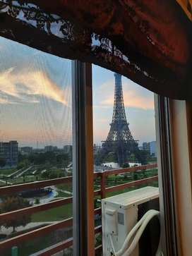 For Sale: Furnished Apartment Facing Eiffel Tower Park Bahria Town LHR