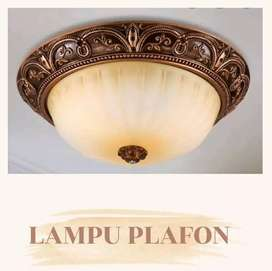 KAP LAMPU PLAFON MOTIF KLASIK KESAN MEWAH  KONDISI SEPERTI BARU