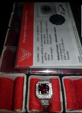 Cincin Batu Almandite Garnet