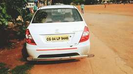 Attached an Ola private limited company Tata indigo ECs , white color