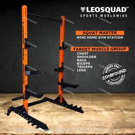 SQUAT MASTER - SQUAT RACK - FOR HOME USE - LEOSQUAD