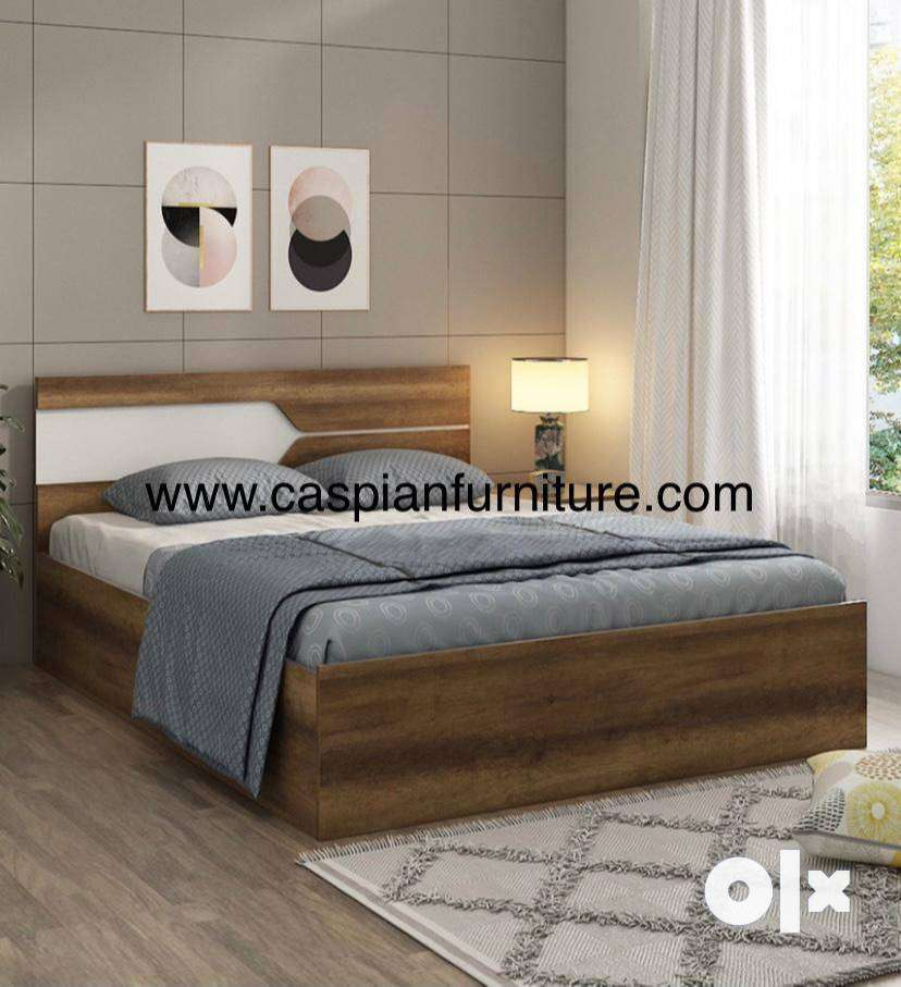 Caspian Furniture:- New queen size bed with storage