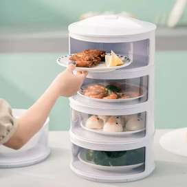 HS Tempat makan 4 susun/tudung saji 4 susun atau rak makanan 4 tingkat