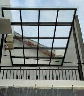 Kanopi solarflat dan canopy kaca #729