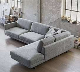 Throw coushions Design L shape sofa with 5 years of warranty