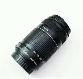 Lensa canon 55-250mm bisa cash kredit