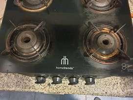 Gas burner, cooking range and washing machine