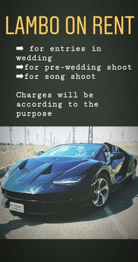 Lamborghini on rent for events and weddings and pre-wedding