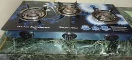 LPG Surya Crystal 3 Burner Automatic Gas stove,for Kitchen.