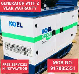GENERATOR WITH 2 YEAR WARRANTY N LOW OIL CONSUMPTION N FREE SERVICES