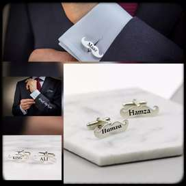 Mustache Name Cuff-Links