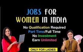 Female job part time and full time work