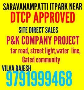 Saravanampatti it Park near dtcp approved site 1500sf sales