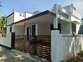 2.bhk 850 sft 3 cent new build house at paravur aluva road thattampady