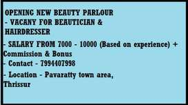 Need beautician and hairdresser