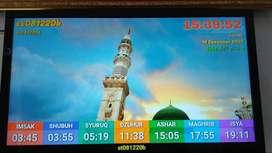 Jam LED TV Masjid
