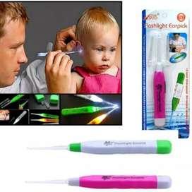Flashlight Earpick Lampu Pembersih Telinga LED Anak & Dewasa