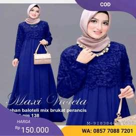 Baju gamis dress muslim viole (COD)