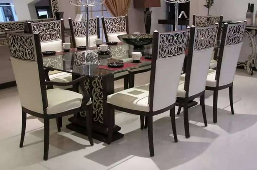 Different 12  Dining table designs inside with 8 chairs 0