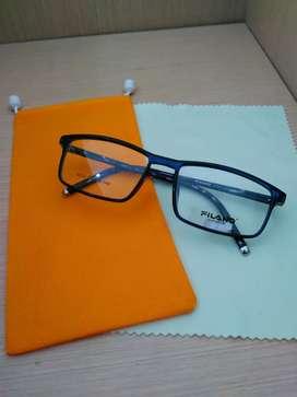 Frame Kacamata Filano Model Kotak Warna Biru Cocok Buat Wanita