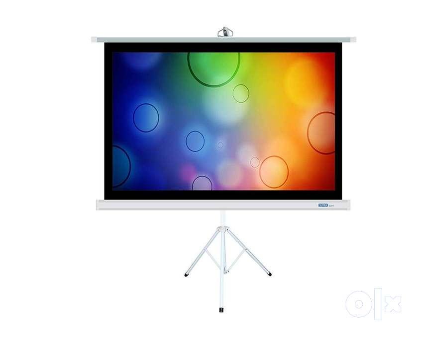 SUVIRA Projection Screen Tripod - Matte White Fabric | 4 0