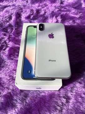 Iphone X 256gb silver..1.5yrs used ..