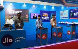 Welcome to Reliance jio company  Male and female candidates both can a