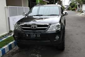 Jual Fortuner 2008 Diesel manual hitam
