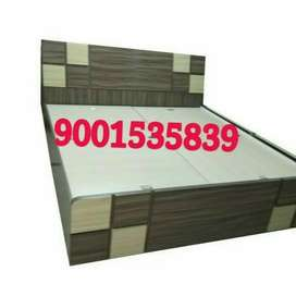 New designer wooden double bed with storage box full size
