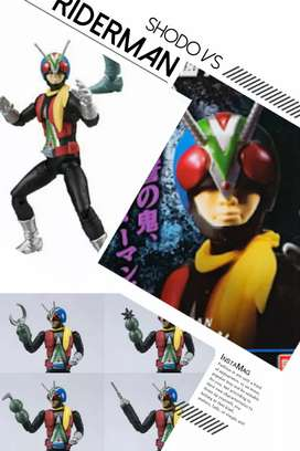 MINI SHF/SHODO VS - VOL.2 - KAMEN RIDER RIDERMAN - ORI BANDAI