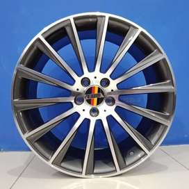 Velg Mobil Innova, Alphard HSR Wheel R18 ROSTOCK BLADE H5X112 GMF