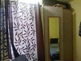 1 bhk flat,  rent 5750/- deposit 5000/-,gas stove, fridge available.
