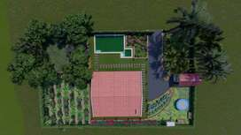 Bunglow with land, pvt  pool, mango farm & organic farm at 38 lacs