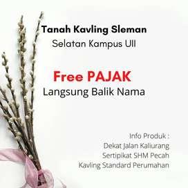 Free Pajak dan Notaris Kavling Kost 3Jt'an Sertipikat Ready Sleman Kal