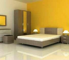 Satu set tempat tidur pengantin