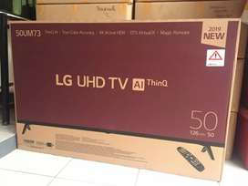 TERMURAH LG UHD 4K 50 INCH 50UM7300 REMOTE MAGIC SMART TV THINQ AI