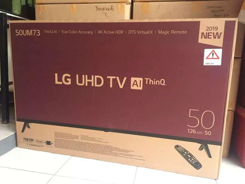 TERMURAH LG UHD 4K 50 INCH 50UM7300 REMOTE MAGIC SMART TV THINQ AI 0