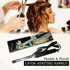 Catok rambut kabel Curly keriting