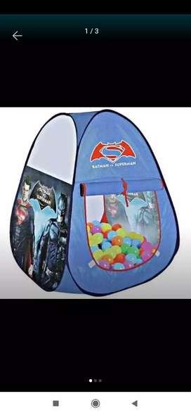 Tenda Anak Segitiga motif Superhero / Tenda Bermain Balita