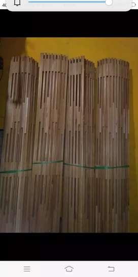 Tirai kulit bambu dan tirai rotan dan kulit dan kayu