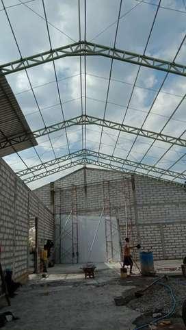 jasa pembuatan kanopi atap gudang pabrik ruko baja pengerjaan rapi